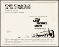 """The Last Picture Show (Columbia, 1971). Half Sheet (22"""" X 28""""). Drama"""