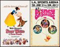 """Movie Posters:Animation, Snow White and the Seven Dwarfs & Other Lot (Buena Vista, R-1967). Window Cards (2) (14"""" X 22""""). Animation.. ... (Total: 2 Items)"""