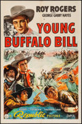 "Movie Posters:Western, Young Buffalo Bill (Republic, 1940) Folded, Very Fine-. One Sheet (27"" X 41""). Western...."