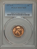Lincoln Cents, 1971-S 1C MS67 Red PCGS. PCGS Population: (31/0). NGC Census: (32/0). Mintage 525,133,472. ...
