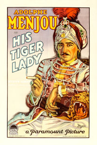 """His Tiger Lady (Paramount, 1928). One Sheet (27"""" X 41"""") Style B"""