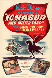 """The Adventures of Ichabod and Mr. Toad (RKO, 1949). One Sheet (27"""" X 41"""")"""
