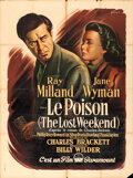 "Movie Posters:Academy Award Winners, The Lost Weekend (Paramount, 1946). French Grande (46.5"" X 62.5"")Boris Grinsson Artwork.. ..."