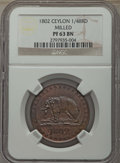 Ceylon, Ceylon: British Colony Proof 1/48 Rixdollar 1802 PR63 Brown NGC,...