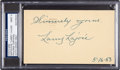"""Baseball Collectibles:Others, 1953 Napoleon """"Larry"""" Lajoie Signed Government Postcard, PSA/DNA Mint 9. . ..."""