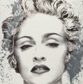 Prints & Multiples, Mr. Brainwash (French, b. 1966). Happy Birthday Madonna (Silver), 2017. Screenprint hand-finished with spray paint on ar...