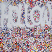 Takashi Murakami (Japanese, b. 1962) Flower Hollow, 2015 Offset lithograph in colors on satin white