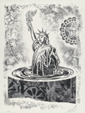 Prints & Multiples, Shepard Fairey (American, b. 1970). Damaged Stencil Series, set of eight works, 2017. Offset prints on paper. 24 x 18 in...