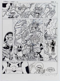 Original Comic Art:Miscellaneous, Brendan McCarthy 2000 AD #1713 Story Page 6 PreliminaryOriginal Art (Rebellion Publ., 2010)....