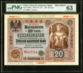 World Currency, China Deutsch-Asiatische Bank Tientsin 20 Taels 1.3.1907 Pick S303sSpecimen.. ...