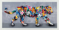 Fine Art - Work on Paper:Print, Martin Whatson (Norwegian, b. 1984). Tiger, 2017.Screenprint in colors on Somerset paper. 22-5/8 x 42 inches (57.5 x10...
