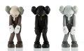 Fine Art - Sculpture, American:Contemporary (1950 to present), KAWS (American, b. 1974). Small Lie (three works), 2017.Painted cast vinyl, each. 11 x 4-1/2 x 3-1/2 inches (27.9 x 11....(Total: 3 Items)