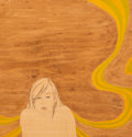 Fine Art - Painting, American:Contemporary   (1950 to present)  , Suzannah Sinclair (American, b. 1979). Waking Up Like This,2004. Gouache and wood stain on panel. 9...