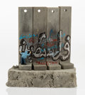 Collectible, After Banksy . Souvenir Wall Section, 2017. Painted cast resin with concrete. 5-1/4 x 5 x 3-1/2 inches (13.3 x 12.7 x 8.... (Total: 2 Items)