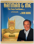 Memorabilia:Superhero, Batman and Me: The Saga Continues... Gold Slipcase Publisher's Proof Hardcover Edition with Bob Kane-Signed Batman Emb...