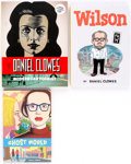 Memorabilia:Comic-Related, Daniel Clowes-Related Hardcover First Edition Books Group of 3 (Various Publishers).... (Total: 3 Items)
