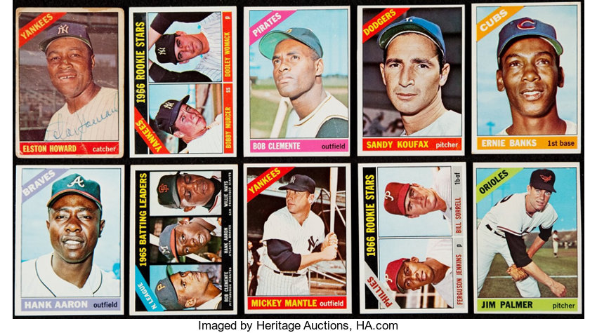 1966 Topps Baseball Complete Set 598 With Extras Including