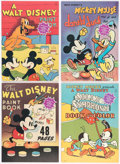 Memorabilia:Miscellaneous, Walt Disney Related Paint and Coloring Books Group of 4 (Walt Disney, 1975).... (Total: 4 Items)