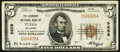 National Bank Notes, Tulsa, OK - $5 1929 Ty. 1 The Exchange NB Ch. # 9658. ...
