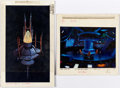 Animation Art:Painted cel background, Iron Man Painted Background/Color Key Group of 2 (MarvelFilms, 1995).... (Total: 2 Original Art)