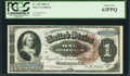 Large Size:Silver Certificates, Fr. 220 $1 1886 Silver Certificate PCGS Choice New 63PPQ.. ...