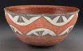 American Indian Art:Pottery, A Zia Polychrome Dough Bowl . c. 1920...