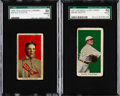 Baseball Cards:Lots, 1910's Caramel/Candy Eddie Cicotte SGC-Graded Pair (2). ...