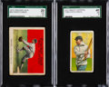 Baseball Cards:Lots, 1910's Chic Gandil SGC-Graded Pair (2). ...