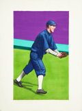 Baseball Cards:Other, 2005 Helmar Brewing Co. Buck Weaver & Hap Felsch Original Art Pair (2). ...