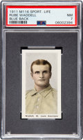 Baseball Cards:Singles (Pre-1930), 1910-11 M116 Sporting Life Rube Waddell (Blue Back) PSA NM 7 - PopOne, None Higher! ...
