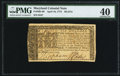 Colonial Notes:Maryland, Maryland April 10, 1774 $6 PMG Extremely Fine 40.. ...
