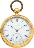 Timepieces:Pocket (pre 1900) , E. Howard & Co. Boston 18k Gold L Size Key Wind With Coles...