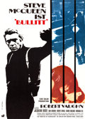 "Movie Posters:Crime, Bullitt (Warner Brothers, 1969). German A1 (23.5"" X 33"") W. ScharlArtwork.. ..."