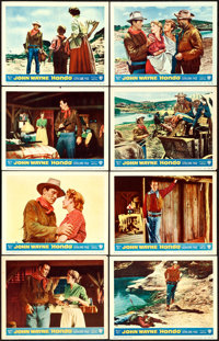 """Hondo (Warner Brothers, 1953). Lobby Card Set of 8 (11"""" X 14"""") 3-D Style. ... (Total: 8 Items)"""