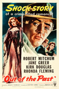 """Movie Posters:Film Noir, Out of the Past (RKO, R-1953). One Sheet (27"""" X 41"""").. ..."""