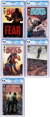 The Walking Dead #100 CGC-Graded Cover Variants Group of 5 (Image, 2012) CGC NM/MT 9.8.... (Total: 5 Comic Books)