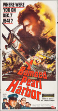 "Movie Posters:War, I Bombed Pearl Harbor (Parade, 1961). Three Sheet (41"" X 79"").War.. ..."
