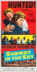 "Movie Posters:Crime, Subway in the Sky (United Artists, 1959). Three Sheet (41"" X79.5""). Crime.. ..."