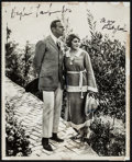"Movie Posters:Photo, Douglas Fairbanks and Mary Pickford (1920s). Autographed Photo (8""X 10""). Photo.. ..."