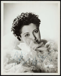 """Helen Morgan by Maurice Seymour (1930s). Very Fine-. Autographed Portrait Photo (8"""" X 10""""). Miscellaneous"""