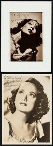 """Movie Posters:Miscellaneous, Lupe Velez & Other Lot (1930s). Autographed Photos (2) (3.5"""" X 4.5"""" & 5"""" X 7""""). Miscellaneous.. ... (Total: 2 Items)"""