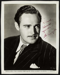 "Patric Knowles & Other Lot (RKO, 1940). Very Fine-. Autographed Portrait Photos (2) (5"" X 7"" & 8""..."