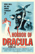 "Movie Posters:Horror, Horror of Dracula (Universal International, 1958). One Sheet (27"" X41"") Blue Style, Joseph Smith Artwork.. ..."