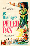 """Movie Posters:Animation, Peter Pan (RKO, 1953). One Sheet (27"""" X 41""""). ..."""