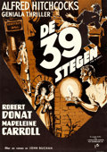 Movie Posters:Hitchcock, The 39 Steps (Rank, R-1949). Full-Bleed Swedish On...