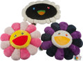 Other, Takashi Murakami (Japanese, b. 1962). Flower Cushion (set of 3), n.d.. Polyester and Acrylic. 24 x 24 inches (61 x 61 cm... (Total: 3 Items)