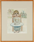 Books:Original Art, Henry Miller. [Untitled, 71/63]. [No place, presumably Los Angeles: 1963]. Original drawing on white paper colored in waterc...