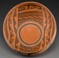 American Indian Art:Pottery, A Cedar Creek Polychrome Bowl. c. 1300 - 1375 AD...