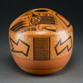 American Indian Art:Pottery, A Contemporary Hopi Polychrome Jar. Les Namingha...