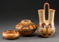 American Indian Art:Pottery, Three Contemporary Hopi Polychrome Potter Items. Hisi Nampeyo andYvonne Lucas... (Total: 3 Items)